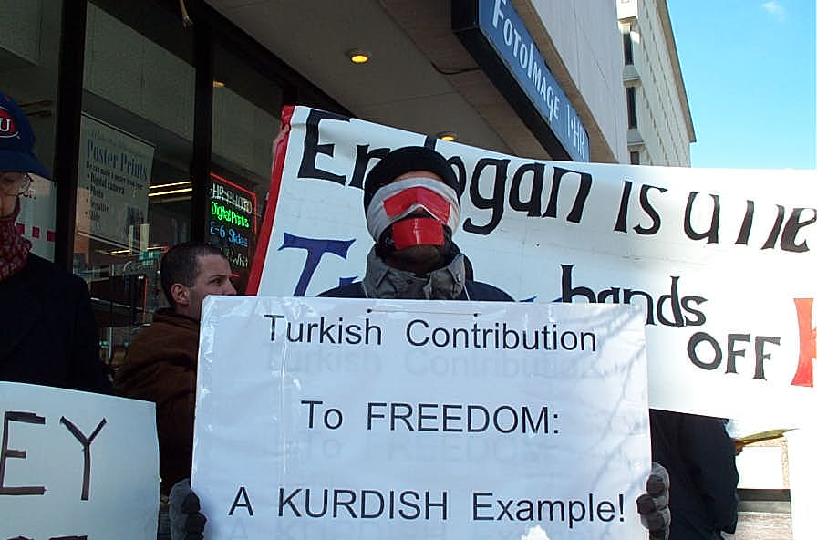 A Kurd Displaying his Freedom of Speech in Turkey